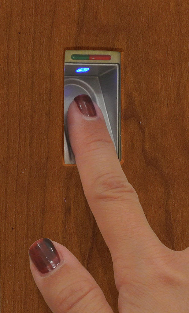 Biometric technology for secretaire with fingerprint identification opening system.