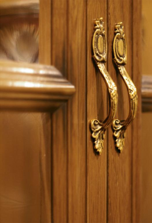 Brass antiqued handles with unique details