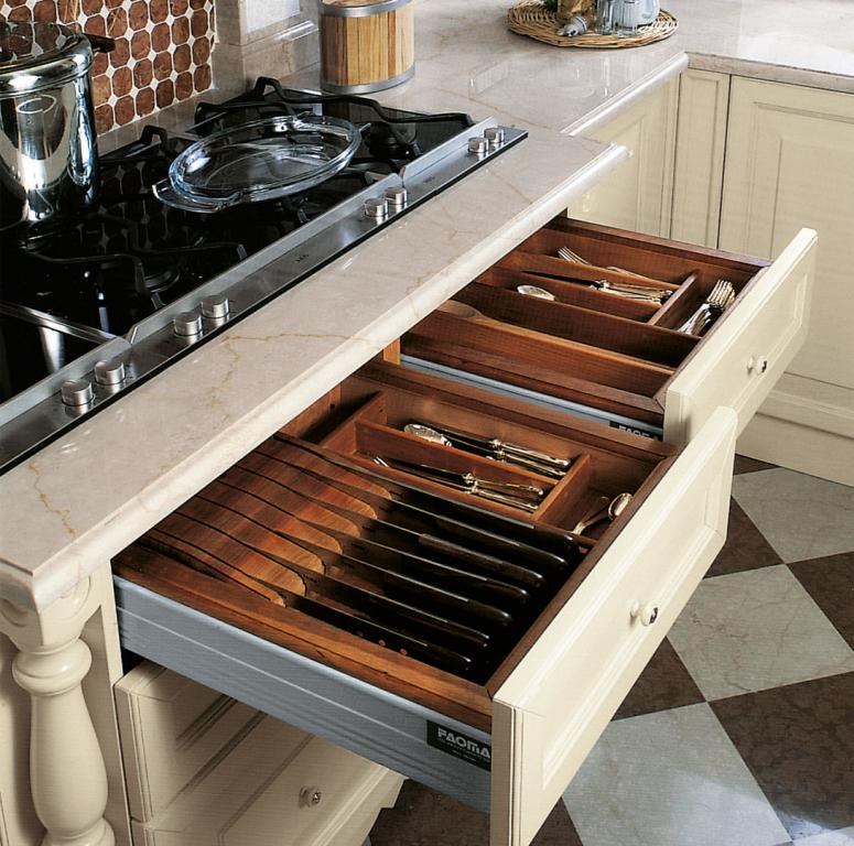 Drawers contain practical internal compartments