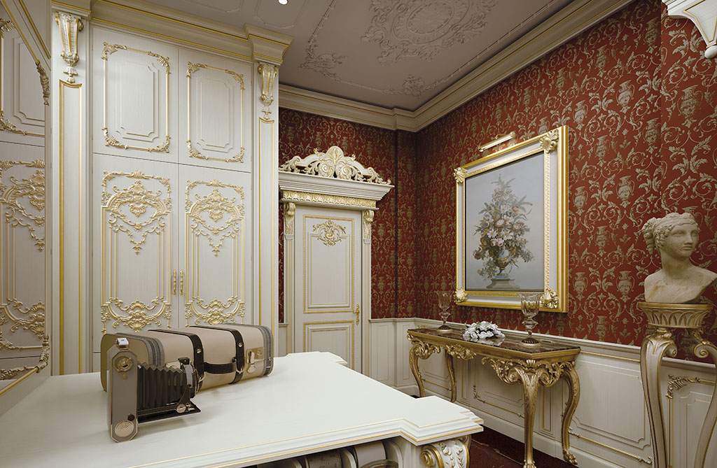 The color match is studied to enhance the personality and elegance of the room.
