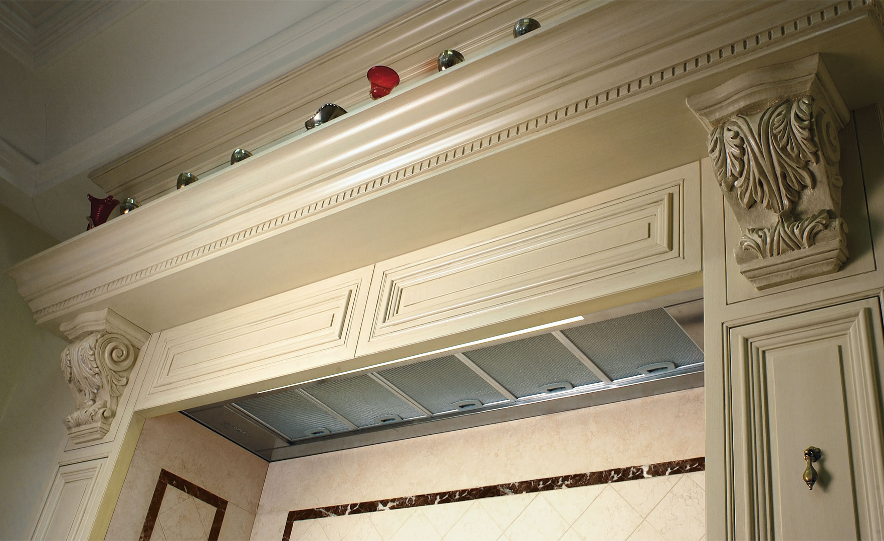 Fine hand carved details to match coverings