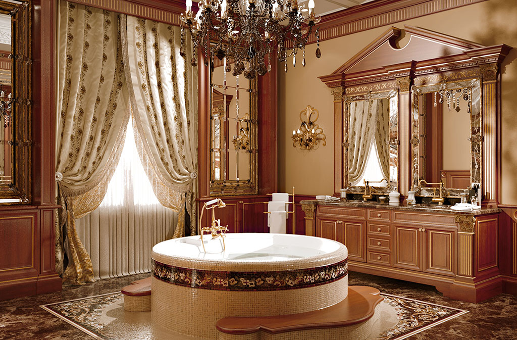 The bathroom is particularly spacious and luxury.