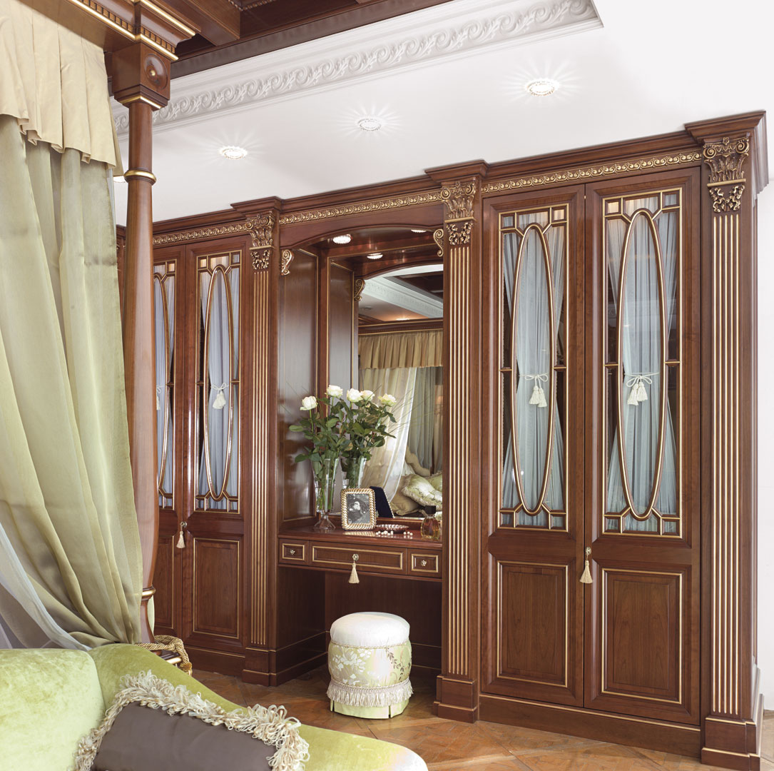 Crystal doors with inner curtain to protect content