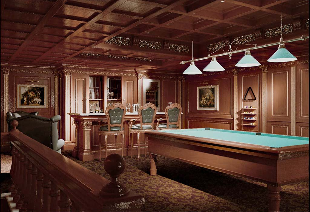 Custom Made Billiard Room For Luxury Houses Faoma
