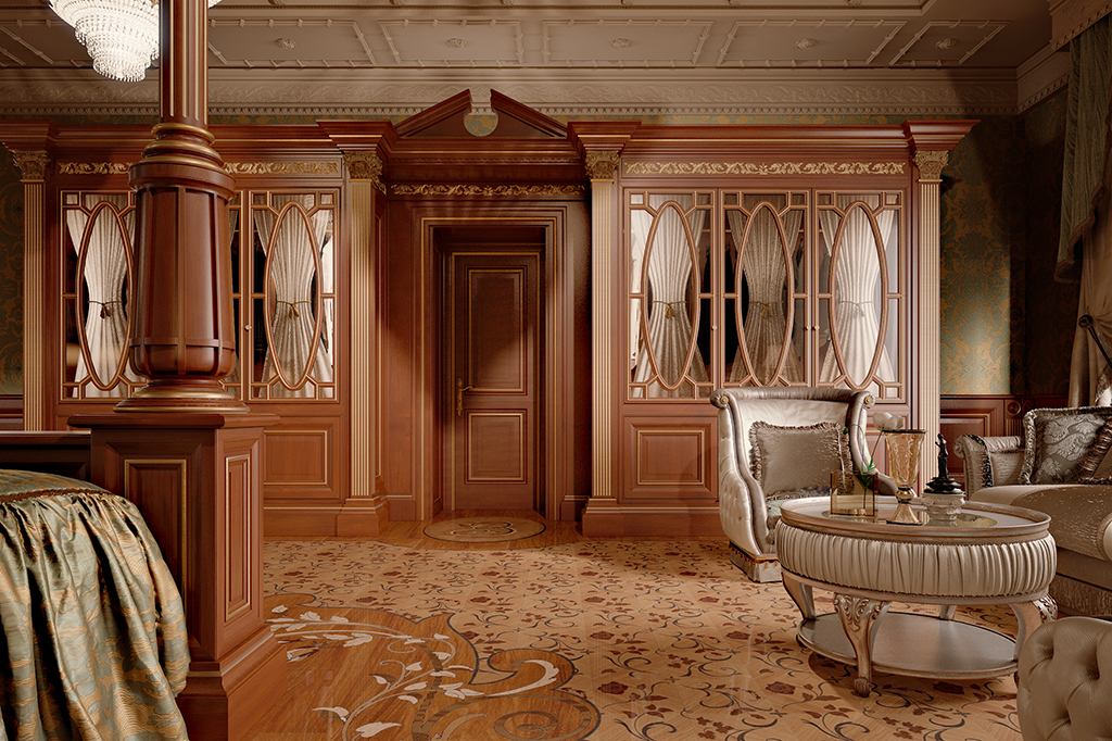 The door becomes the protagonist as the main decorative element of ambient.