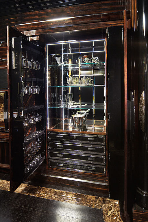 General view of mobile bar interior
