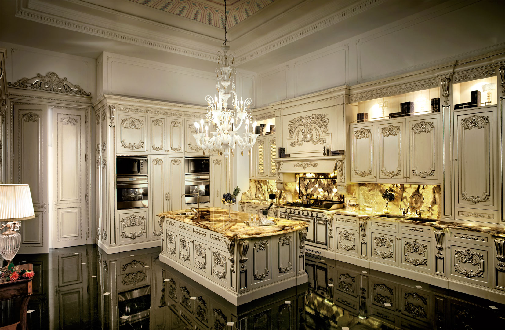 A luxury kitchen that shines like a diamond