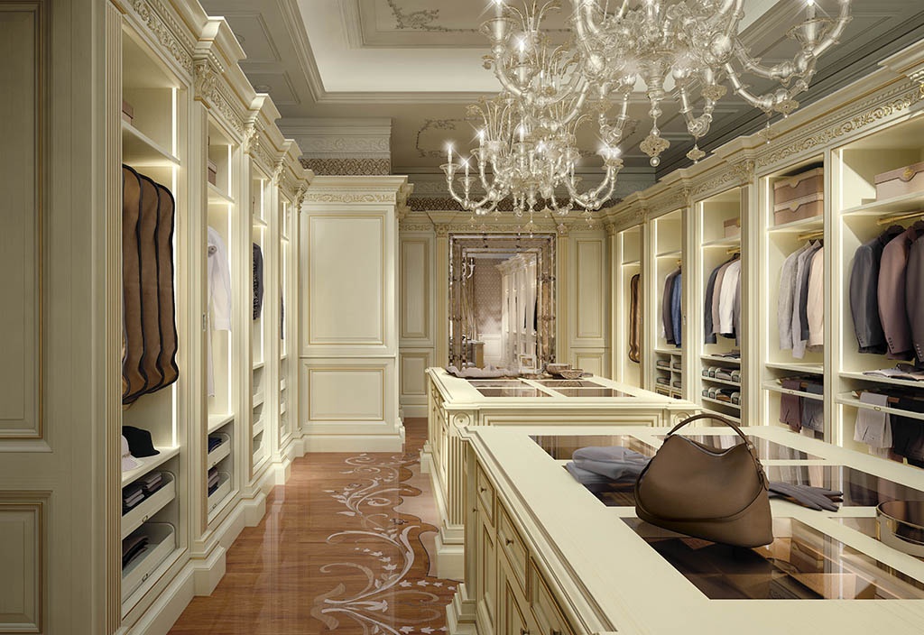 Bespoke walk in closet made in italy elizabeth by faoma for Dressing room interior