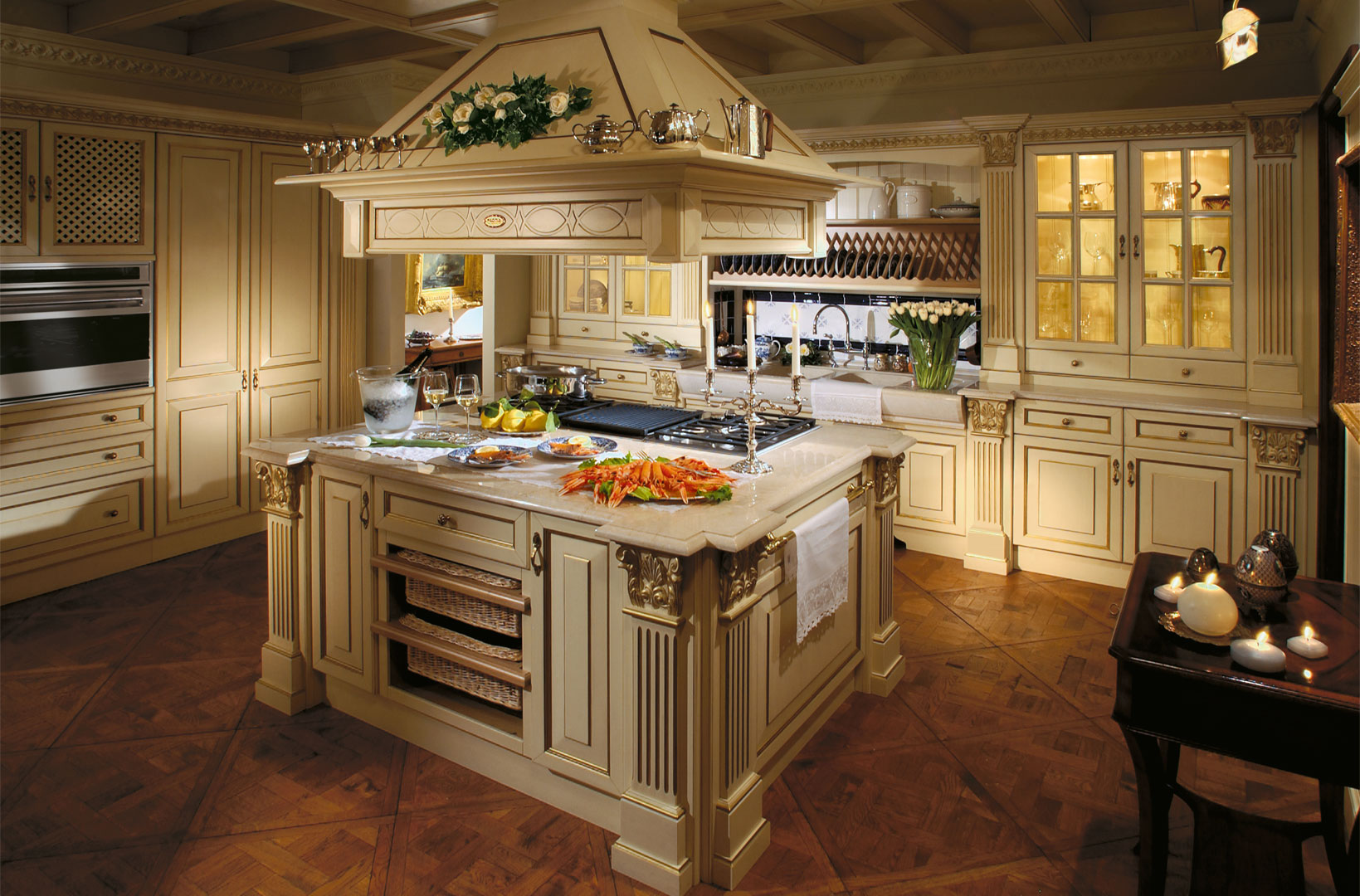 Glass Design For Kitchen Cabinets Italian Design Kitchen Custom Made Royal Luxury
