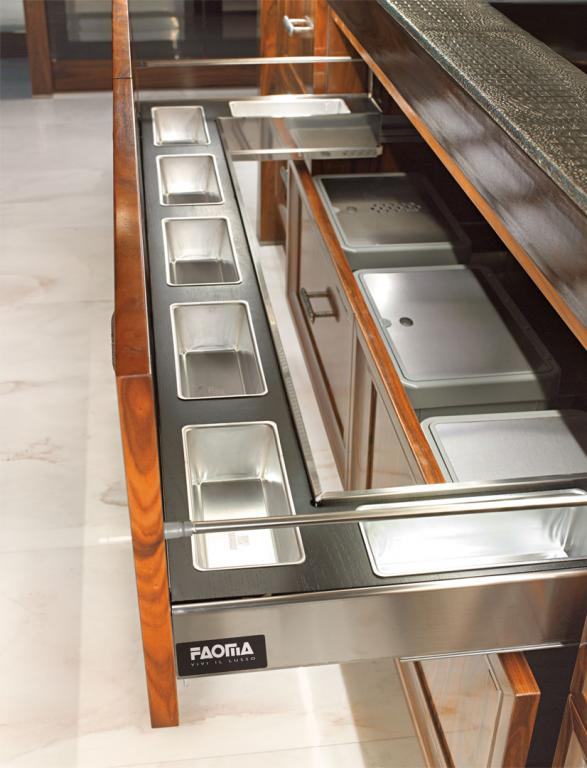 Convenient food warmers hidden in-pull out drawers