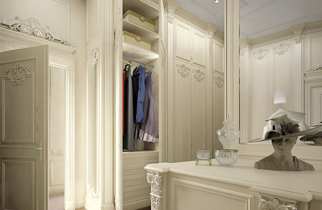 All our wardrobes are internally personalized according to the specific needs of the client.