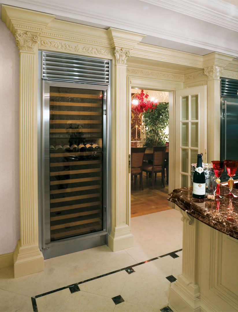A space for the refrigeration of wines
