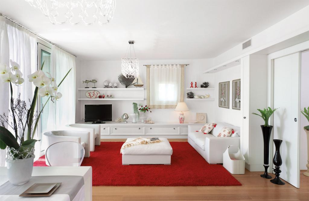 Simple lines for luxury contemporary living white on white