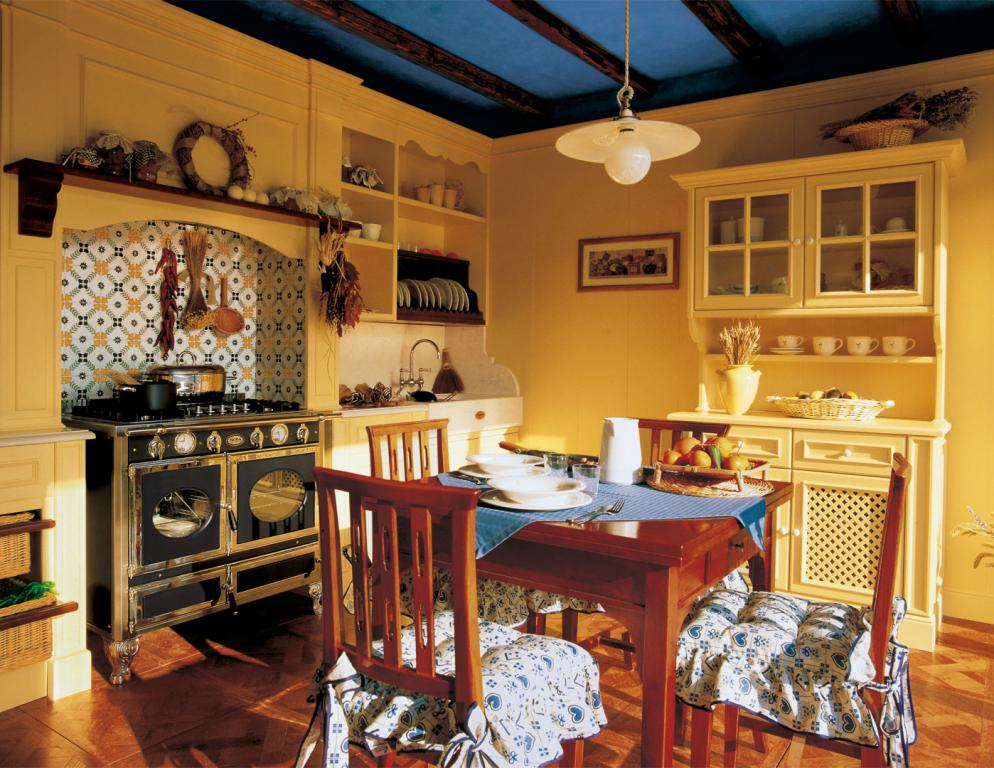 Country kitchen with matching paneling